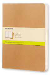 Omslag - Moleskine Plain Cahier Xl - Kraft Cover (3 Set)
