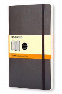 Moleskine Soft Large Ruled Notebook Black av Moleskine (Notatblokk)