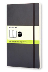 Omslag - Moleskine Soft Large Plain Notebook Black
