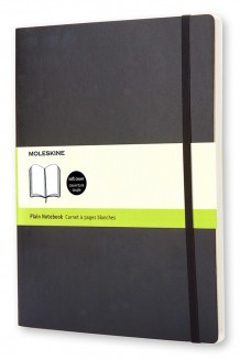 Moleskine Soft Extra Large Plain Notebook Black av Moleskine (Notatblokk)