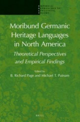 Omslag - Moribund Germanic Heritage Languages in North America