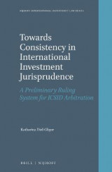 Omslag - Towards Consistency in International Investment Jurisprudence