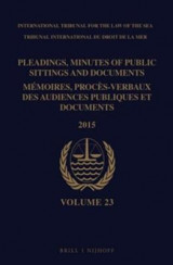 Omslag - Pleadings, Minutes of Public Sittings and Documents / Memoires, proces-verbaux des audiences publiques et documents, Volume 23