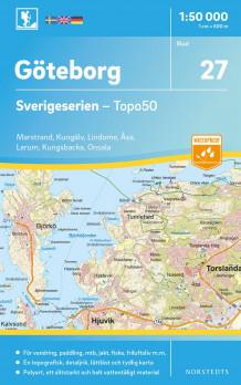 Karta Sverige Hojdkurvor.27 Goteborg Sverigeserien Topo50 Skala 1 50 000 Kart Falset