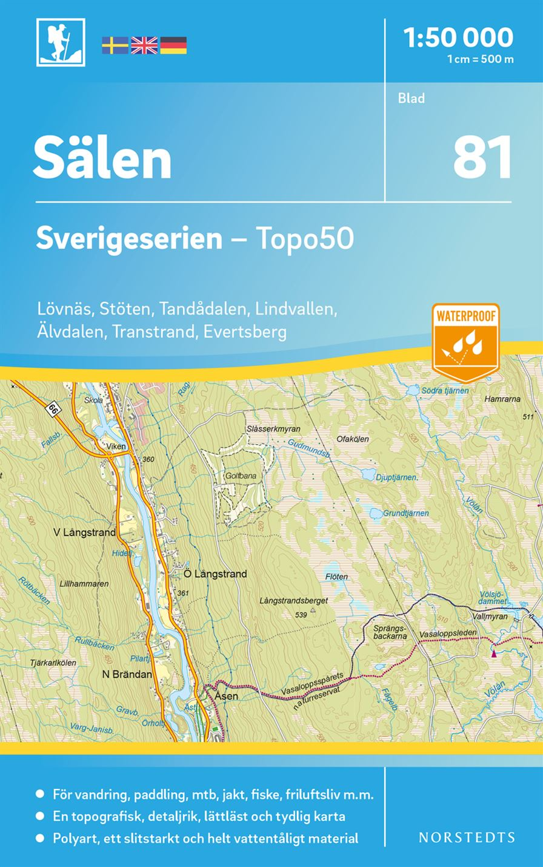 sälen kart Salen 2018 (Kart, falset)   Friluftsliv | Tanum nettbokhandel