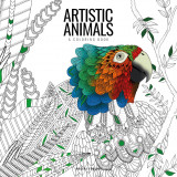Omslag - Artistic animals : a colouring book