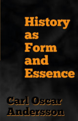 Omslag - History as Form and Essence