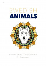 Omslag - Swedish animals : a hand drawn coloring book