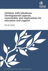 Omslag - Children with blindness: Developmental aspects, comorbidity and implications for education and support