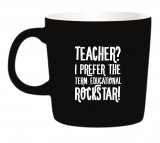 Omslag - Kaffemugg - Teacher? I prefer the term Educational Rockstar!
