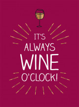 Omslag - It's always wine o'clock