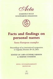 Facts and findings on personal names : some European examples av Lars-Gunnar Larsson og Staffan Nyström (Heftet)