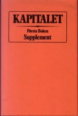 Omslag - Kapitalet : Första boken. Supplement