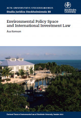 Omslag - Environmental policy space and international investment law
