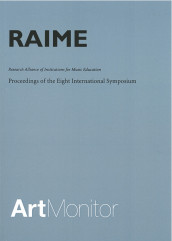 RAIME : research alliance of institutions for music education : proceedings of the eight international symposium held at Schaeffergaarden, Copenhagen September 29-October 1, 2005 av Stephan Bladh, Susan Bruenger, Anders Chami, Kirsten Fink-Jensen, Charlotte Frölich, Sven-Erik Holgersen, Finn Holst, Jere Humpreys, Geir Johansen, Teresa Lesuik, Cliff Madsen, Kristina Mariager Anderson, Jessica Napoles, Frede V. Nielsen, Bengt Olsson, Fredrik Pio og Eva G eorgii-Hemming (Heftet)