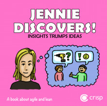 Jennie discovers! - insights, trumps, ideas : a book about agile and lean av Hans Brattberg og Jimmy Janlén (Heftet)
