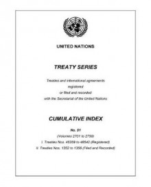 Treaty Series Cumulative Index Number 51 av United Nations (Heftet)