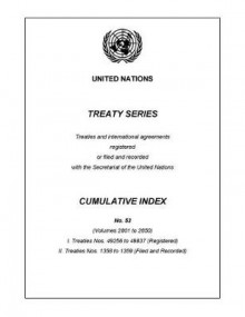 Treaty Series Cumulative Index Number 53 av United Nations (Heftet)