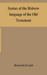 Omslag - Syntax of the Hebrew language of the Old Testament