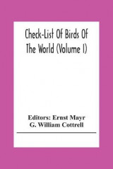 Omslag - Check-List Of Birds Of The World (Volume I)
