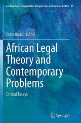 Omslag - African Legal Theory and Contemporary Problems