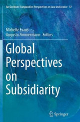 Omslag - Global Perspectives on Subsidiarity