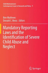 Omslag - Mandatory Reporting Laws and the Identification of Severe Child Abuse and Neglect
