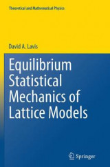 Omslag - Equilibrium Statistical Mechanics of Lattice Models