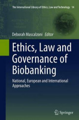 Omslag - Ethics, Law and Governance of Biobanking