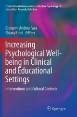 Omslag - Increasing Psychological Well-Being in Clinical and Educational Settings