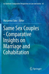 Omslag - Same Sex Couples - Comparative Insights on Marriage and Cohabitation