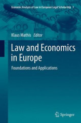 Omslag - Law and Economics in Europe