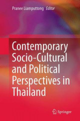 Omslag - Contemporary Socio-Cultural and Political Perspectives in Thailand