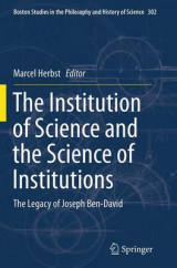Omslag - The Institution of Science and the Science of Institutions