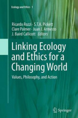 Omslag - Linking Ecology and Ethics for a Changing World