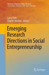 Omslag - Emerging Research Directions in Social Entrepreneurship