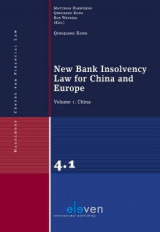 Omslag - New Bank Insolvency Law for China and Europe: China Volume 1