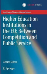 Omslag - Higher Education Institutions in the EU: Between Competition and Public Service 2017