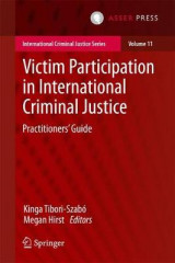 Omslag - Victim Participation in International Criminal Justice