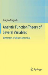 Omslag - Analytic Function Theory of Several Variables 2016