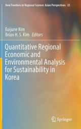 Omslag - Quantitative Regional Economic and Environmental Analysis for Sustainability in Korea 2017