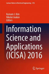Omslag - Information Science and Applications (ICISA) 2016 2016