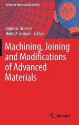 Omslag - Machining, Joining and Modifications of Advanced Materials 2016