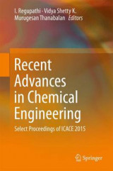 Omslag - Recent Advances in Chemical Engineering