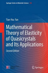 Omslag - Mathematical Theory of Elasticity of Quasicrystals and its Applications 2017