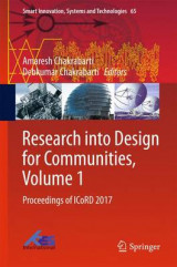 Omslag - Research into Design for Communities 2017: Volume 1