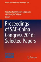 Omslag - Proceedings of SAE-China Congress 2016: Selected Papers