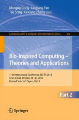 Omslag - Bio-Inspired Computing - Theories and Applications 2016: Part II