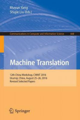 Omslag - Machine Translation 2016