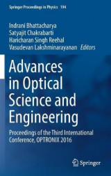 Omslag - Advances in Optical Science and Engineering